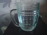 Пивной бокал,кружка БССР, 50-е года,толстое цв. стекло, фото №4