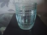 Пивной бокал,кружка БССР, 50-е года,толстое цв. стекло, фото №5