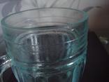 Пивной бокал,кружка БССР, 50-е года,толстое цв. стекло, фото №7