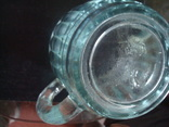 Пивной бокал,кружка БССР, 50-е года,толстое цв. стекло, фото №9