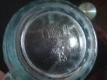 Пивной бокал,кружка БССР, 50-е года,толстое цв. стекло, фото №10