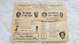 Билет в театр Куба 1963 год, фото №3