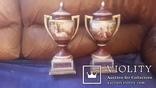 Две старинные фарфоровые вазы старая Вена, фото №2