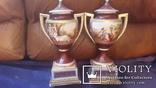 Две старинные фарфоровые вазы старая Вена, фото №7