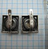 Серебряные Серьги Сережки Версаче Медуза Меандр Английская Застежка 925 проба Серебро 104 фото 5