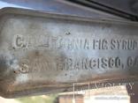 California fig syrup co.  бутылочка от сиропа, фото №4