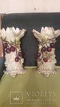 Две старинные фарфоровые парные вазы старая Германия, фото №5