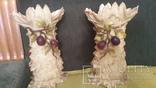 Две старинные фарфоровые парные вазы старая Германия, фото №9