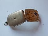 Советский кулон под фото. Серебро 875 проба., фото №7