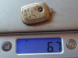 Советский кулон под фото. Серебро 875 проба., фото №11