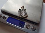 Иконка нательная. Святой Николай. Серебро 925 проба., фото №9
