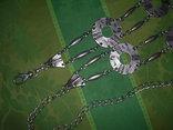 Пояс из тяж.металла в скандинавском стиле - реконструктору, фото №2