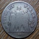 Франция 5 франков L'AN 7 (1798 г.), фото №3