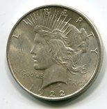 Мирный доллар 1922 г. Серебро. Монетный двор D, фото №2