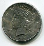 Мирный доллар 1926 г. Серебро., фото №2