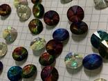 Кристаллы 10,5 мм-50 шт( чешское стекло 70 е года) для ремонта винтажных украшений, фото №4