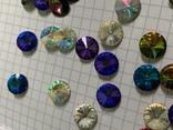 Кристаллы 10,5 мм-50 шт( чешское стекло 70 е года) для ремонта винтажных украшений, фото №5