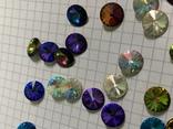 Кристаллы 10,5 мм-50 шт( чешское стекло 70 е года) для ремонта винтажных украшений, фото №6