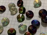 Кристаллы 10,5 мм-50 шт( чешское стекло 70 е года) для ремонта винтажных украшений, фото №7
