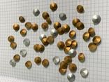 Кристаллы 10,5 мм-50 шт( чешское стекло 70 е года) для ремонта винтажных украшений, фото №8