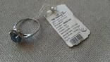 Серьги и кольцо серебро 925 с топазами и цирконами., фото №4