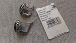 Серьги и кольцо серебро 925 с агатами ., фото №10
