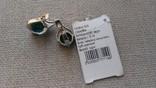 Серьги и кольцо серебро 925 с изумрудами и цирконами., фото №9