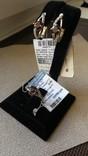 Серьги и кольцо серебро 925 с гранатами и цирконами., фото №2