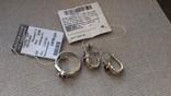 Серьги и кольцо серебро 925 с гранатами и цирконами., фото №3