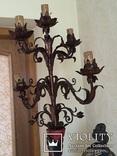 Старовинний торшер (дерево), фото №6
