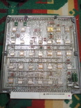 Плата АТС ( микросхеммы 32 шт в позолоте+ разйом СНП 49 НА 56 контактов внутри позолота), фото №2