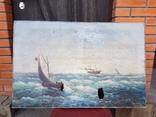 Картина Морской пейзаж автор Писоттин, фото №2