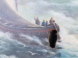 Картина Морской пейзаж автор Писоттин, фото №5