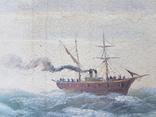 Картина Морской пейзаж автор Писоттин, фото №8
