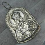 Серебряный Кулон Подвеска Святой Николай Чудотворец 925 проба Серебро 745