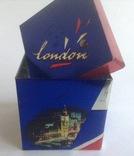 Коробка от чая LONDON.  Металл, жесть., фото №3