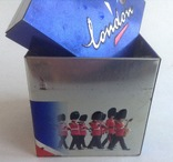 Коробка от чая LONDON.  Металл, жесть., фото №4