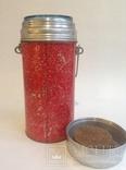 Термос (стеклянная колба). Алюминий, металл. Для первых и вторых блюд., фото №2