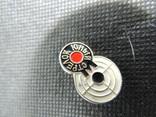 Юный стрелок мишень прицел знак значок СССР эмаль алюминий булавка, фото №2
