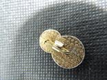Юный стрелок мишень прицел знак значок СССР эмаль алюминий булавка, фото №5