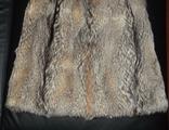 Натуральная (Лиса) стильная шуба/жилетка/полушубок, фото №6