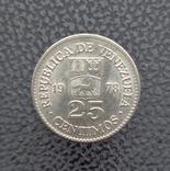 Венесуэла 25 сентимо 1978, фото №2