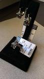 Серьги и кольцо серебро 925 с раухтопазами и цирконами., фото №2