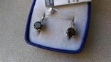 Серьги и кольцо серебро 925 с раухтопазами и цирконами., фото №12