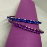 Пара браслетов с синими и фиолетовыми вставками (2), фото №4