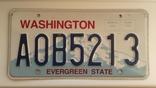 Лицензионный автомобильный номерной знак США. Washington. USA., фото №2