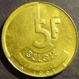 5 франків Бельгія 1993 Belgie, фото №2