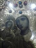Богородица 43х49. В бисере и окладе. Икона со шпонками., фото №7