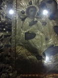 Богородица 43х49. В бисере и окладе. Икона со шпонками., фото №8