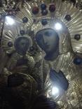 Богородица 43х49. В бисере и окладе. Икона со шпонками., фото №10